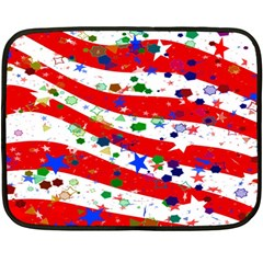 Confetti Star Parade Usa Lines Double Sided Fleece Blanket (Mini)