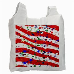 Confetti Star Parade Usa Lines Recycle Bag (One Side)