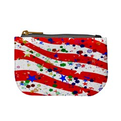 Confetti Star Parade Usa Lines Mini Coin Purses