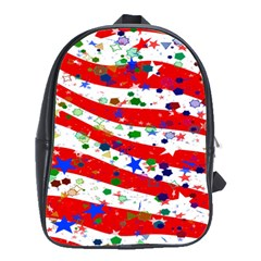 Confetti Star Parade Usa Lines School Bags(Large)