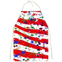 Confetti Star Parade Usa Lines Full Print Aprons