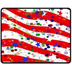Confetti Star Parade Usa Lines Fleece Blanket (Medium)