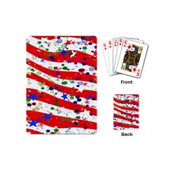Confetti Star Parade Usa Lines Playing Cards (Mini)