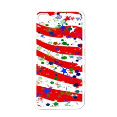 Confetti Star Parade Usa Lines Apple iPhone 4 Case (White)