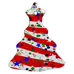 Confetti Star Parade Usa Lines Christmas Tree Ornament (Two Sides)