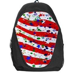 Confetti Star Parade Usa Lines Backpack Bag
