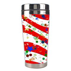 Confetti Star Parade Usa Lines Stainless Steel Travel Tumblers
