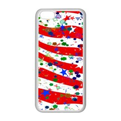 Confetti Star Parade Usa Lines Apple Iphone 5c Seamless Case (white)