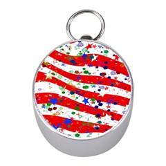Confetti Star Parade Usa Lines Mini Silver Compasses