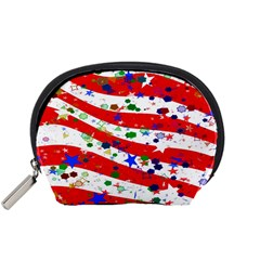 Confetti Star Parade Usa Lines Accessory Pouches (small)