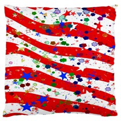 Confetti Star Parade Usa Lines Standard Flano Cushion Case (One Side)