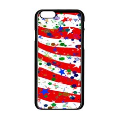 Confetti Star Parade Usa Lines Apple iPhone 6/6S Black Enamel Case