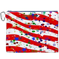 Confetti Star Parade Usa Lines Canvas Cosmetic Bag (xxxl)