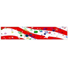 Confetti Star Parade Usa Lines Flano Scarf (large)