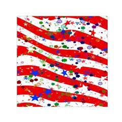 Confetti Star Parade Usa Lines Small Satin Scarf (Square)