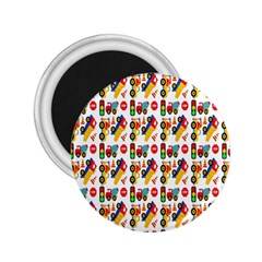 Construction Pattern Background 2.25  Magnets