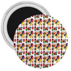 Construction Pattern Background 3  Magnets