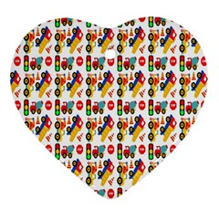 Construction Pattern Background Ornament (Heart)