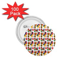 Construction Pattern Background 1.75  Buttons (100 pack)