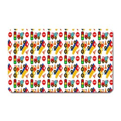 Construction Pattern Background Magnet (Rectangular)