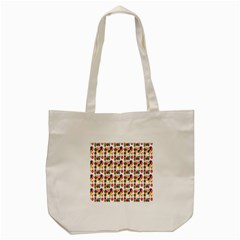Construction Pattern Background Tote Bag (Cream)