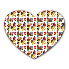 Construction Pattern Background Heart Mousepads