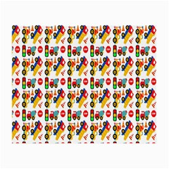 Construction Pattern Background Small Glasses Cloth (2 Side)