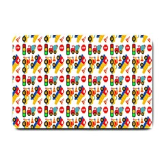 Construction Pattern Background Small Doormat