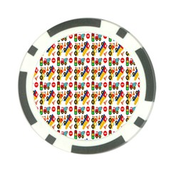 Construction Pattern Background Poker Chip Card Guard