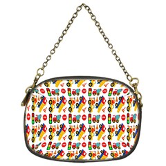 Construction Pattern Background Chain Purses (one Side)