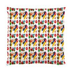 Construction Pattern Background Standard Cushion Case (One Side)