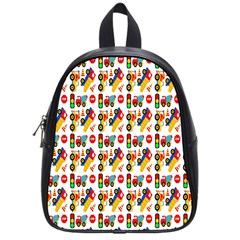 Construction Pattern Background School Bags (Small)