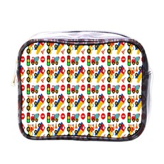 Construction Pattern Background Mini Toiletries Bags