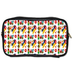 Construction Pattern Background Toiletries Bags
