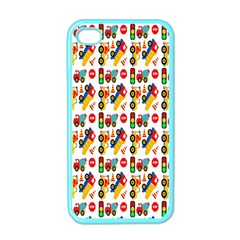 Construction Pattern Background Apple iPhone 4 Case (Color)