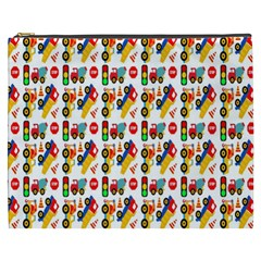 Construction Pattern Background Cosmetic Bag (XXXL)