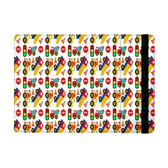 Construction Pattern Background Apple iPad Mini Flip Case