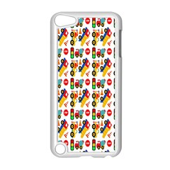 Construction Pattern Background Apple iPod Touch 5 Case (White)
