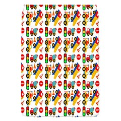Construction Pattern Background Flap Covers (S)