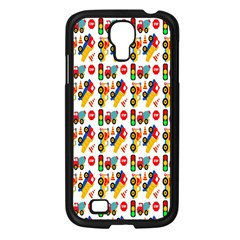 Construction Pattern Background Samsung Galaxy S4 I9500/ I9505 Case (Black)