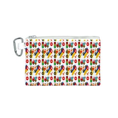 Construction Pattern Background Canvas Cosmetic Bag (s)