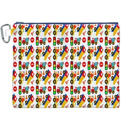 Construction Pattern Background Canvas Cosmetic Bag (XXXL)