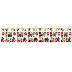 Construction Pattern Background Flano Scarf (large)