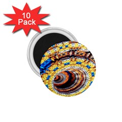 Complex Fractal Chaos Grid Clock 1.75  Magnets (10 pack)