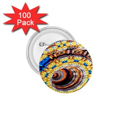 Complex Fractal Chaos Grid Clock 1.75  Buttons (100 pack)