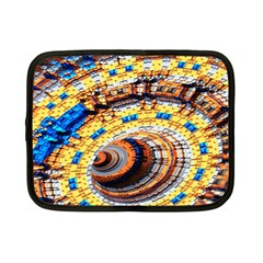 Complex Fractal Chaos Grid Clock Netbook Case (Small)