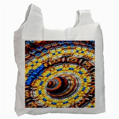 Complex Fractal Chaos Grid Clock Recycle Bag (Two Side)