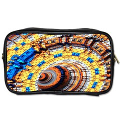 Complex Fractal Chaos Grid Clock Toiletries Bags