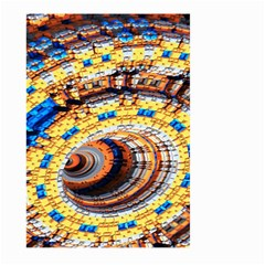 Complex Fractal Chaos Grid Clock Large Garden Flag (two Sides)