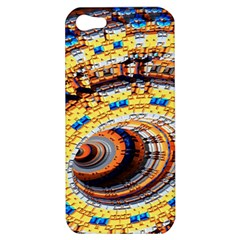 Complex Fractal Chaos Grid Clock Apple iPhone 5 Hardshell Case